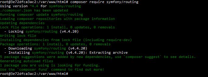 Install symfony/routing via composer.