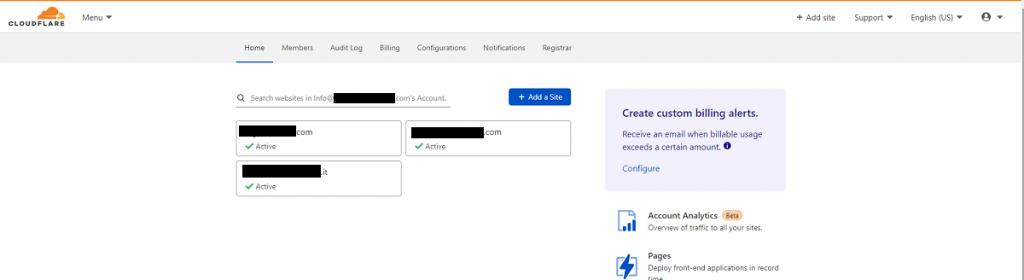 Dashboard Cloudflare