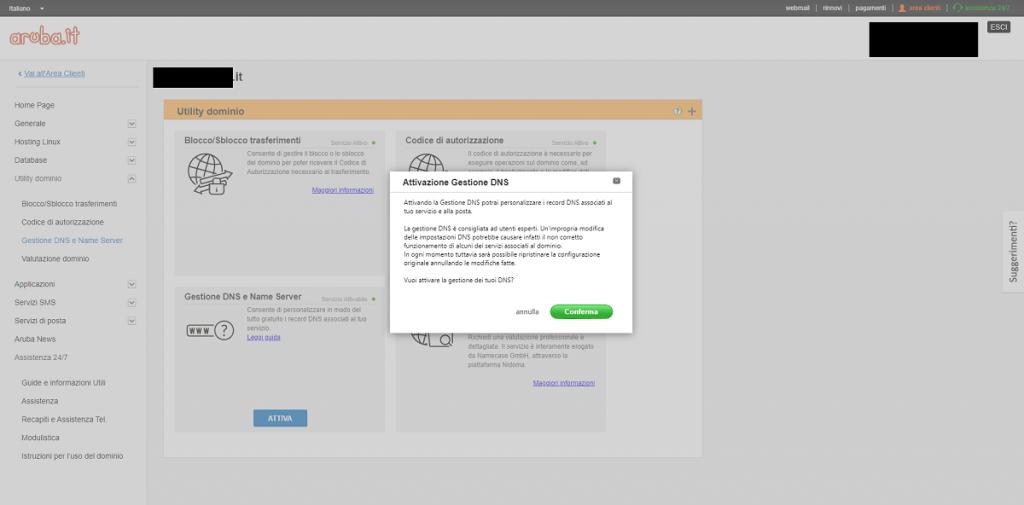 Aruba - Alert Activate DNS